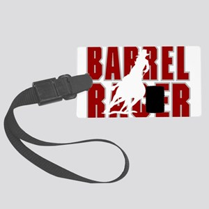 BARREL RACER [maroon] Large Luggage Tag